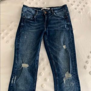 Zara Distressed Skinnies